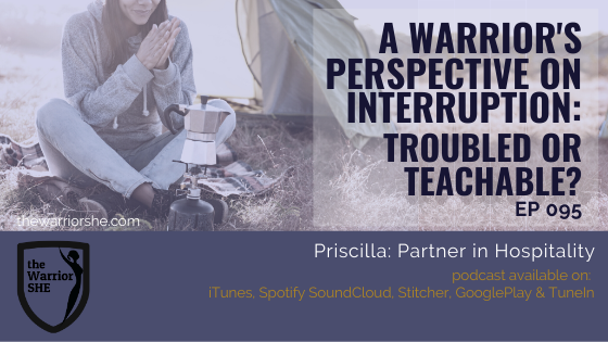 Warrior's Perspective on Interruption: Troubled or Teachable? {Ep.095}